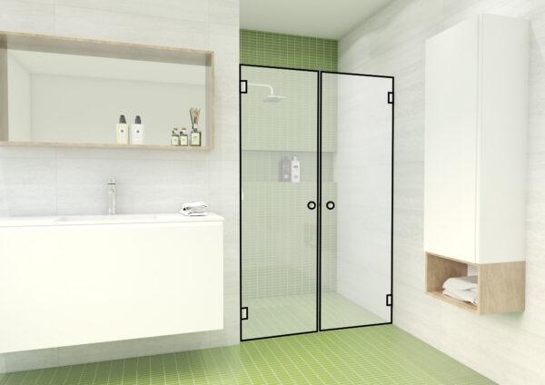 Nischendusche mit 2-flügeliger Tür – DG4